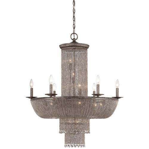 Metropolitan Lighting Shimmering Falls Antique Silver 16-Light Chandelier