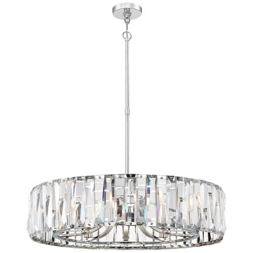 Coronette Chrome Five-Light 32-Inch Pendant