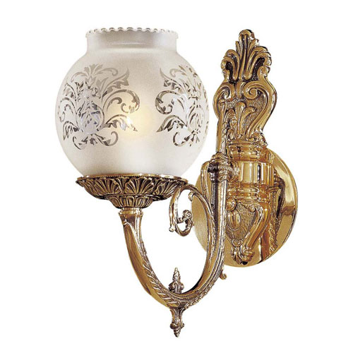 Metropolitan Lighting Vintage Etched Glass Wall Sconce Bellacor
