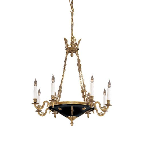 ornate lighting. Metropolitan Lighting Vintage Eight-Light Dore Gold Chandelier Ornate