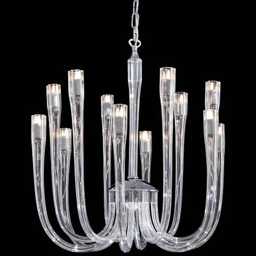 Metropolitan Lighting Metropolitan Chrome and Clear Glass 25.25-Inch 12-Light Chandelier