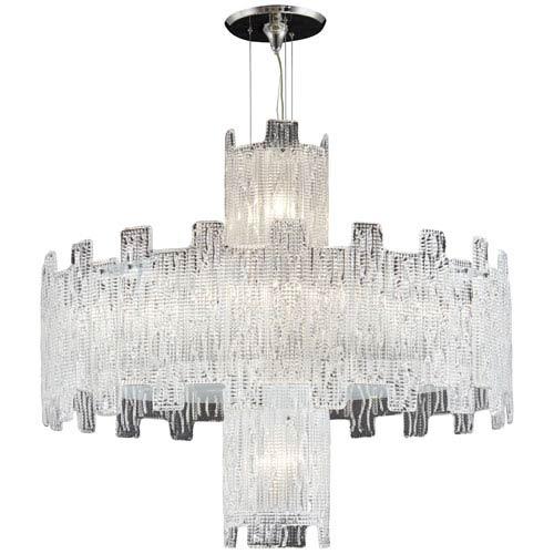 Metropolitan Clear Crystal Ten-Light 32-Inch Chandelier
