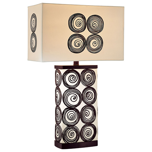 Minka-Lavery Black and White One-Light Table Lamp