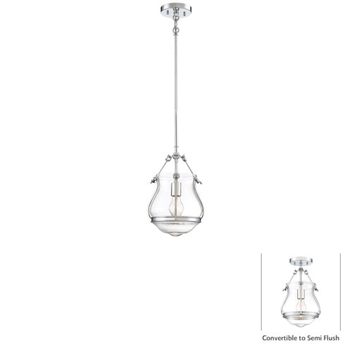 Altrio Chrome One-Light Pendant