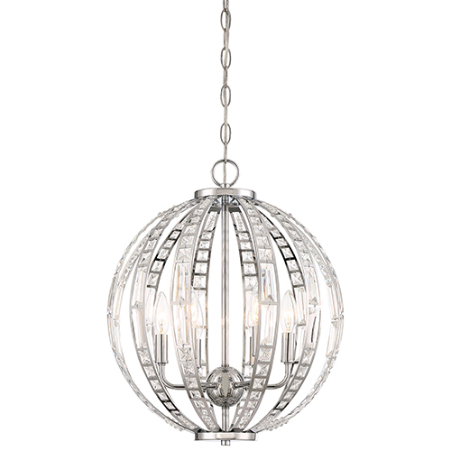 Palermo Chrome Six-Light Pendant
