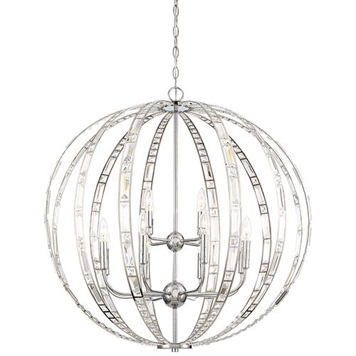 Minka-Lavery Palermo Chrome 12-Light Pendant