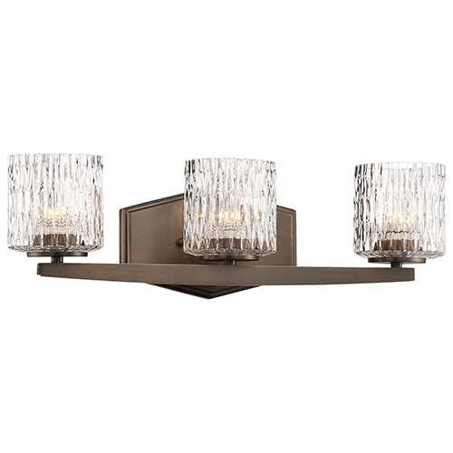 Minka-Lavery Maginot LED Harvard Court Bronze Three-Light LED Bath Vanity