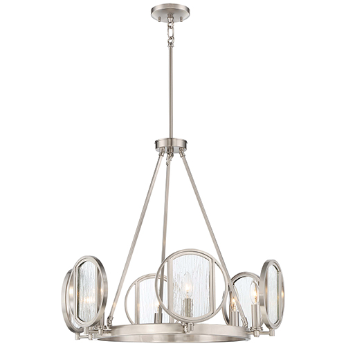 Minka-Lavery Via Capri Brushed Nickel Six-Light Chandelier
