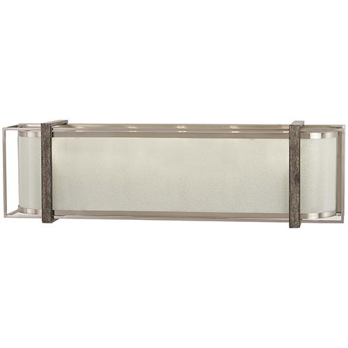 Minka-Lavery Tysons Gate Brushed Nickel with Shale Wood Five-Light Bath Vanity