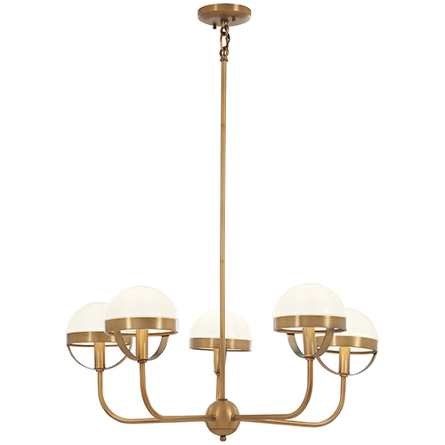Tannehill Antique Noble Brass Five-Light Chandelier