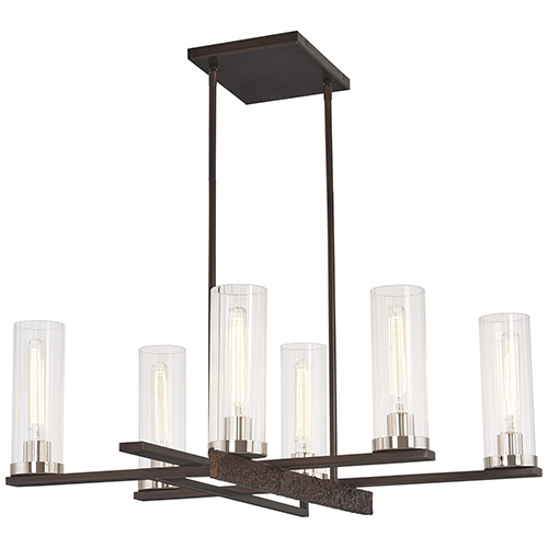 Maddox Roe Iron Ore with Gold Dust Highlight Six-Light Chandelier