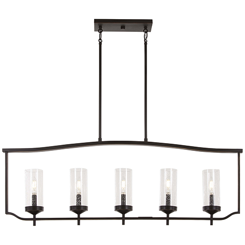 Minka-Lavery Elyton Downton Bronze with Gold Highlight Five-Light Island Pendant
