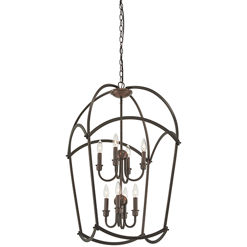 Jupiters Canopy Harvard Court Bronze Eight-Light Pendant
