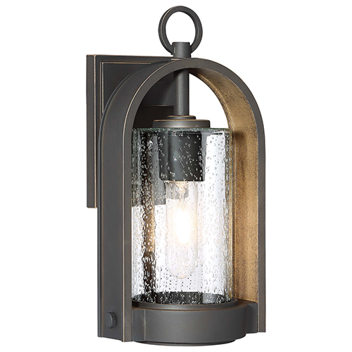Kamstra Oil Rubbed Bronze with Gold Highlights 14-Inch One-Light Outdoor Wall Sconce