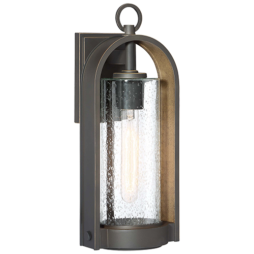 Kamstra Oil Rubbed Bronze with Gold Highlights 17-Inch One-Light Outdoor Wall Sconce