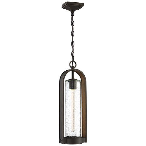 Minka-Lavery Kamstra Oil Rubbed Bronze with Gold Highlights One-Light Outdoor Pendant