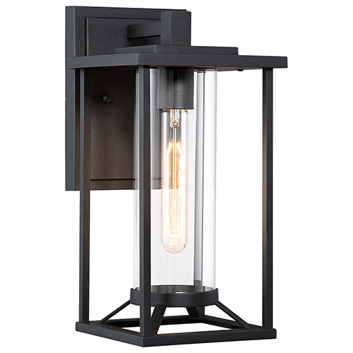 Minka-Lavery Trescott Black 13-Inch One-Light Outdoor Wall Sconce