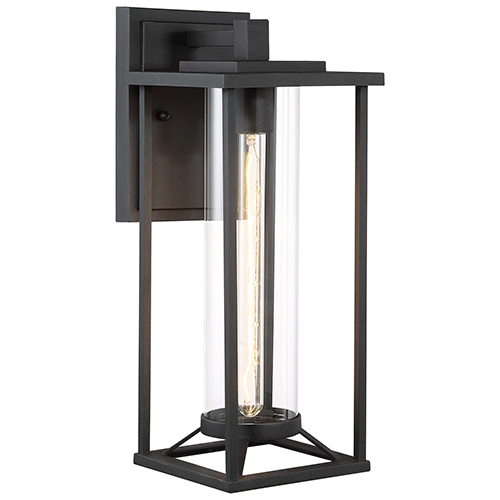 Trescott Black 17-Inch One-Light Outdoor Wall Sconce