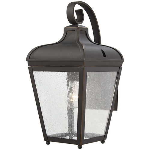 Minka-Lavery Marquee Oil Rubbed Bronze with Gold Highlights One-Light Outdoor Wall Sconce