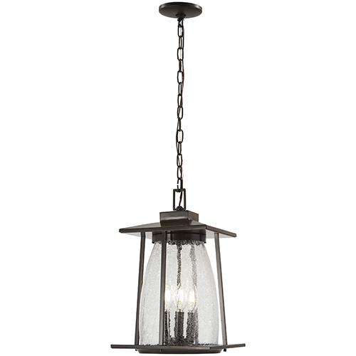 Minka-Lavery Marlboro Oil Rubbed Bronze with Gold Highlights Four-Light Outdoor Pendant