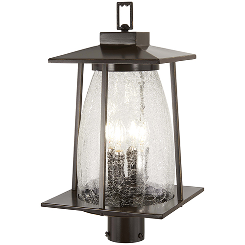 Marlboro Oil Rubbed Bronze with Gold Highlights Four-Light Outdoor Post Mount