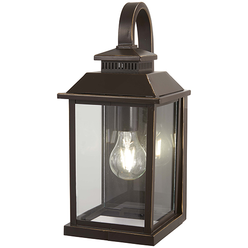 Minka-Lavery Miners Loft Oil Rubbed Bronze with Gold Highlights One-Light Outdoor Wall Sconce