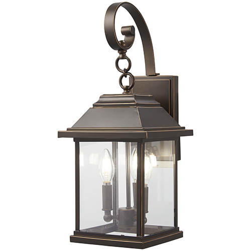 Mariners Pointe Oil Rubbed Bronze with Gold Highlights Three-Light Outdoor Wall Sconce