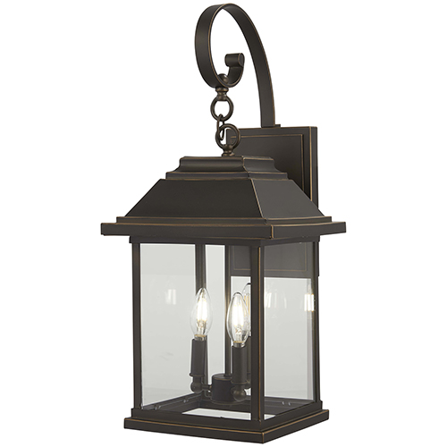 Mariners Pointe Oil Rubbed Bronze with Gold Highlights Four-Light Outdoor Wall Sconce