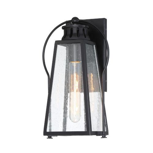 Halder Bridge Matte Black Eight-Inch One-Light Outdoor Wall Lantern