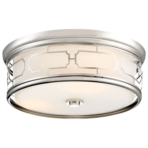 Minka-Lavery Polished Nickel 16-Inch LED Flush Mount