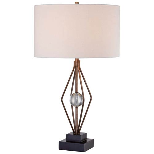 Rich Brown 16-Inch Wide One-Light Portable Table Lamp