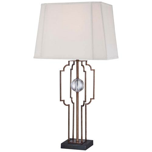 Rich Brown 15-Inch Wide One-Light Portable Table Lamp