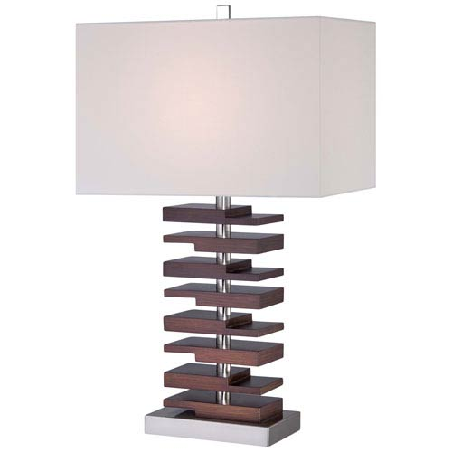 Ambience Brushed Nickel One-Light Portable Table Lamp