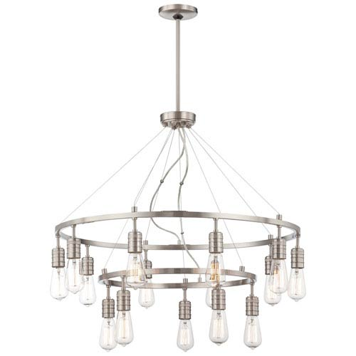 Minka-Lavery Downtown Edison Brushed Nickel 15 Light Chandelier