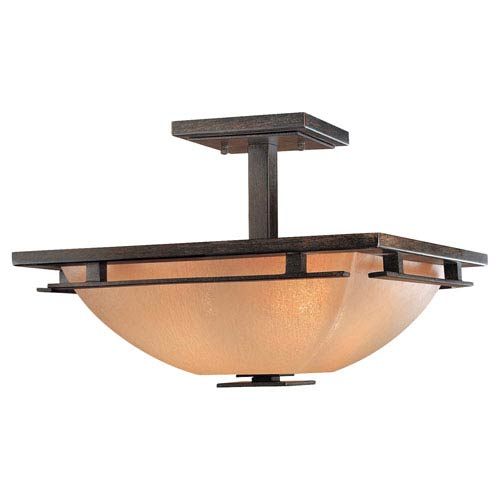 Mission ceiling flush mount lights from bellacor lineage semi flush ceiling light aloadofball Choice Image