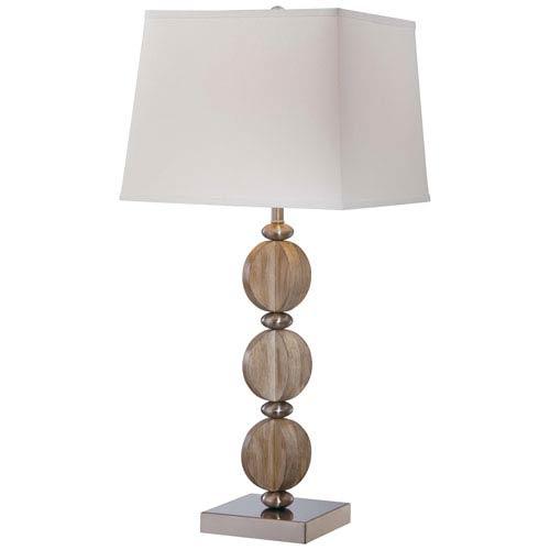 Minka-Lavery One-Light Table Lamp with Cream Linen Fabric Shade
