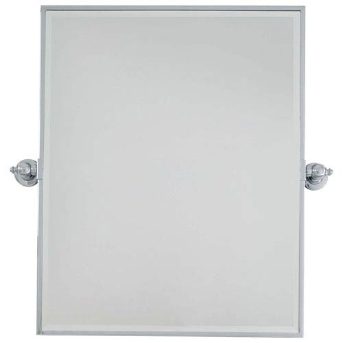 Beveled Chrome 24-Inch Width XI Rectangular Pivot Mirror