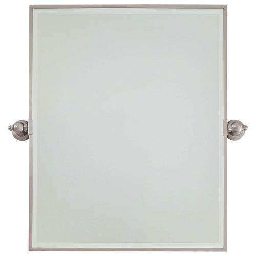Minka-Lavery Beveled Brushed Nickel 24-Inch Width XI Rectangular Pivot Mirror