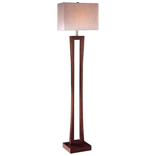 Metropolitan Cherry 9-Inch One-Light Floor Lamp
