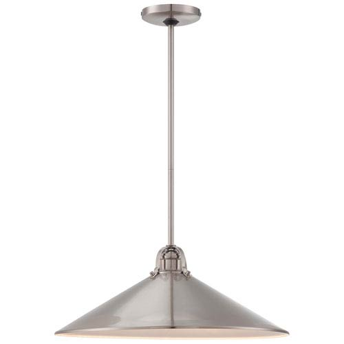 Three-Light Pendant in Brushed Nickel with Metal Shade