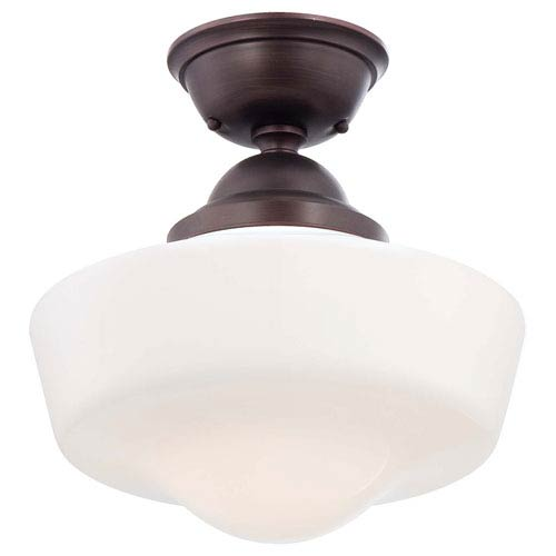 Minka-Lavery One-Light Semi-Flush Mount in Brushed Bronze
