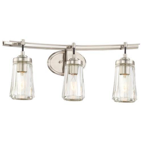 Minka-Lavery Poleis Brushed Nickel Three-Light Vanity