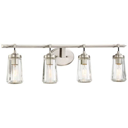 Minka-Lavery Poleis Brushed Nickel Four-Light Vanity