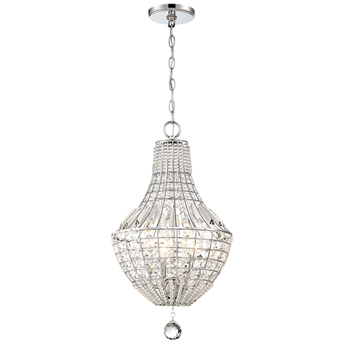 Braiden Chrome 13-Inch Four-Light Chandelier