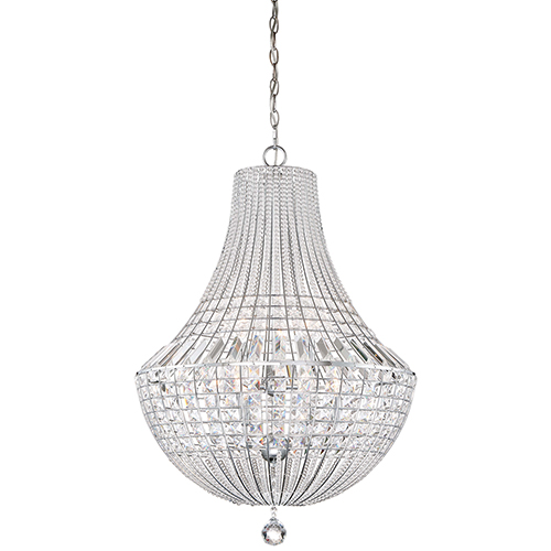 Braiden Chrome 22-Inch Nine-Light Chandelier