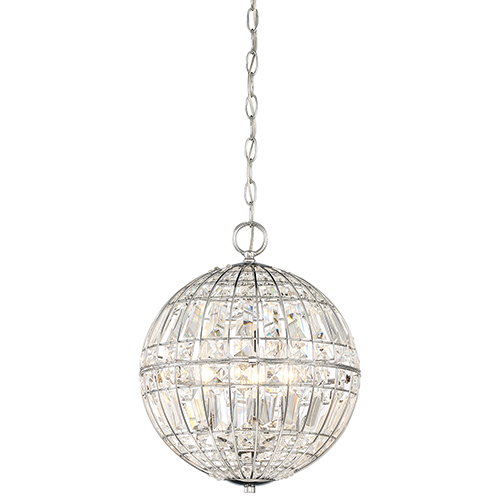 Palermo Chrome 12-Inch Four-Light Pendant