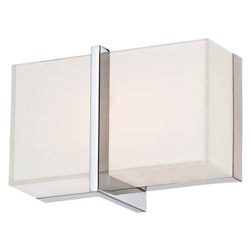 High Rise Chrome 8.75-Inch Wide LED Wall Sconce