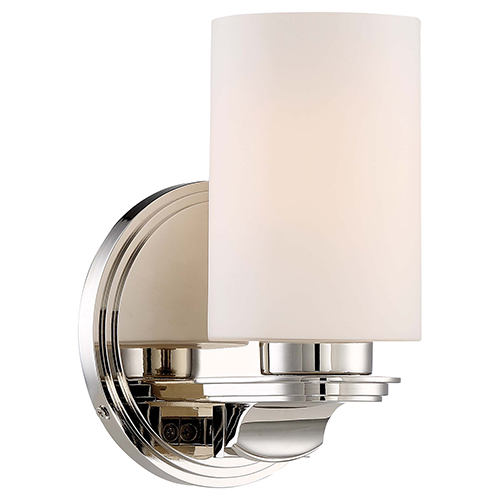 Arrondir Polished Nickel 6-Inch One-Light Bath Light