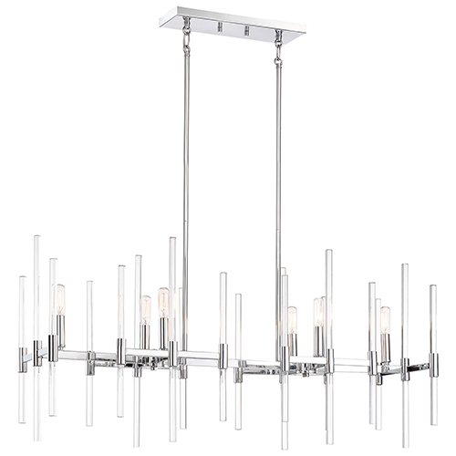 Pillar Chrome 10-Inch Six-Light Island Pendant