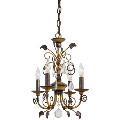 Belcaro Walnut Four-Light Mini Chandelier